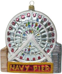after presenting our concept of the chicago navy pier christmas ornament along with the gathered pictures the polish artists came up with the following