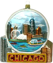since we never had an chicago christmas ornament depicting the world famous chicagos navy pier we concluded that this would be a great year to create the - Chicago Christmas Ornament