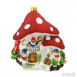 mushroom glass christmas ornament