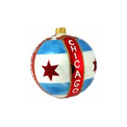 "Chicago Flag Christmas Ornament 3"" (Mys966)-0"