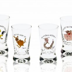 Polish Shot Glasses - Drunk Animals - 25 ml - Set of 6-0