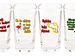 Polish Shot Glasses - Animals Humor - 35 ml - Set of 6-0