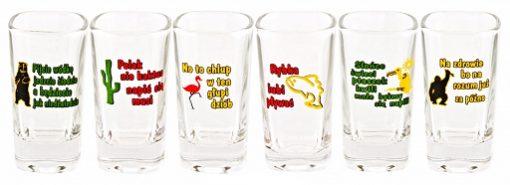 Polish Shot Glasses - Animals Humor - 35 ml - Set of 6-0