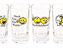 Polish Shot Glasses - Polish Proverbs - Smiley - 35 ml - Set of 6-0