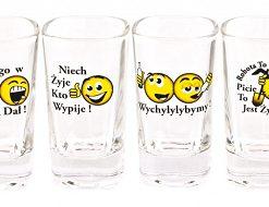 Polish Shot Glasses - Polish Proverbs - Smiley - 35 ml - Set of 6-0