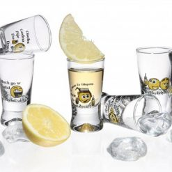 Polish Shot Glasses - Hum. Polish Proverbs - Smiley - 25 ml - Set of 6-0