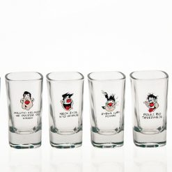 Polish Shot Glasses - Humor X - 35 ml - Set of 6-0
