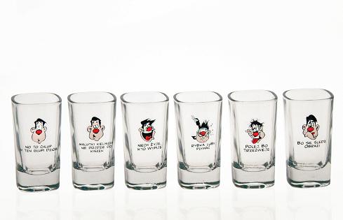 Polish Shot Glasses - Humor X - 35 ml - Set of 6-0