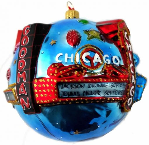 Chicago Skyline Ornament - 3D (Mys933)-0