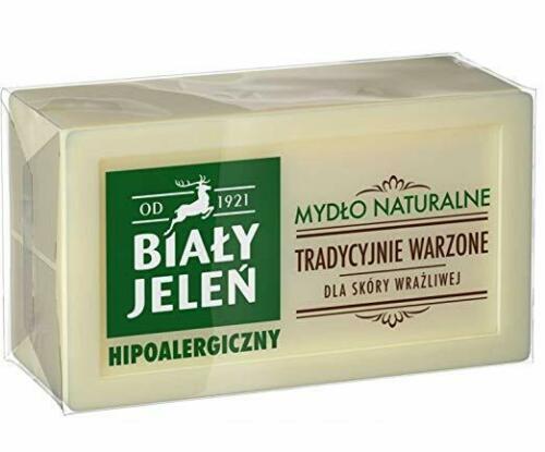 Natural Soap - Mydlo Szare - Bialy Jelen-0