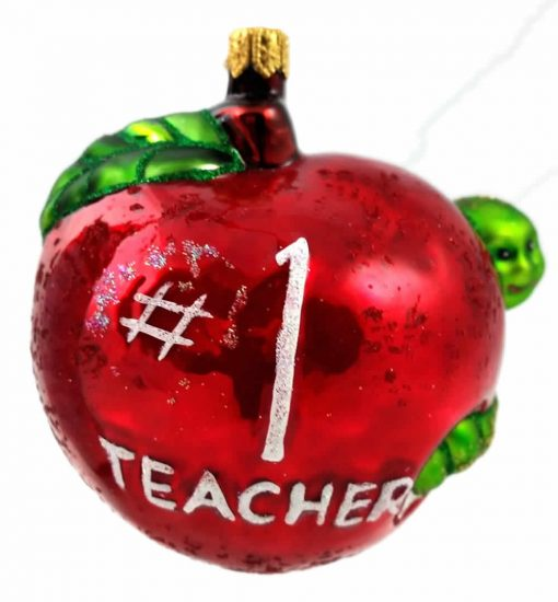 Number 1 Teacher Ornaments (Mys930)-0