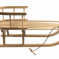 Wooden Sled with Back Support - Sanki Drewniane-4026