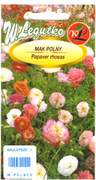 Polish Poppy Flower Seeds - Mak Polny-0