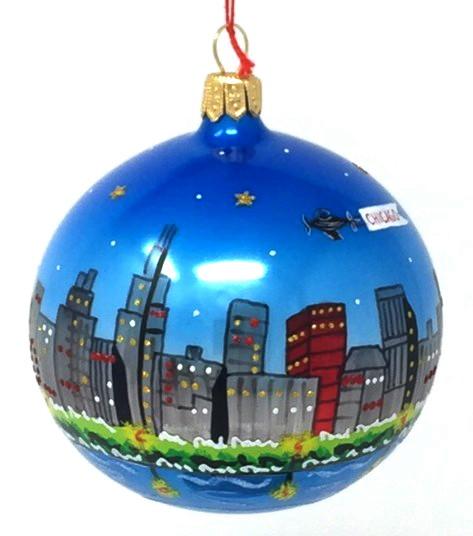 Chicago Skyline Ornament (Mys956)-0