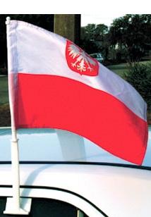 Polish Car Flag - Flaga Polska-0