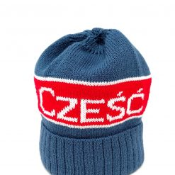 Czesc Hat - Polish Czesc Hi Knit Hat - Blue-0