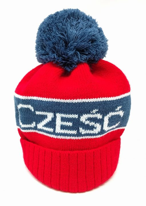 Czesc Hat - Polish Czesc Hi Knit Hat - Red-0