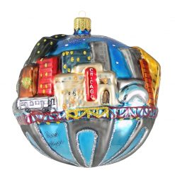 Chicago Skyline with L Train Ornament (Mys913)-0