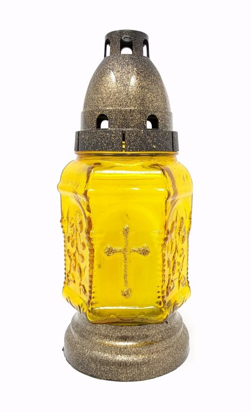 Cemetery Candle - Yellow - Znicz - ZP-308-0
