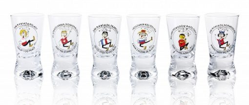 Polish Shot Glasses - International Humor - 25 ml - Set of 6-0