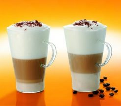 Termisil Caffe Latte Glasses Mugs - 0.4 L - Set of 2-0