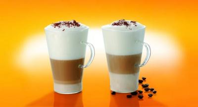 Termisil Caffe Latte Glasses Mugs - 0.4 L - Set of 2-0