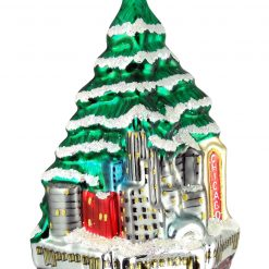 Chicago Skyline Christmas Tree Ornament (Mys916)-0
