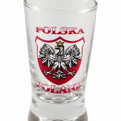 Polish Shot Glasses - Polska - Polish Emblem with White Eagle - 3.5cl - Set of 6-0