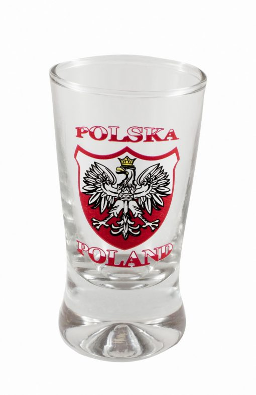 Polish Shot Glasses - Polska - Polish Emblem with White Eagle - 3.5cl - Set of 6-0