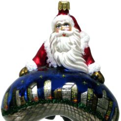Santa Claus with Chicago Bean Ornament - Night (Sew109)-0