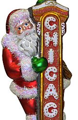 chicago theatre sign christmas ornament