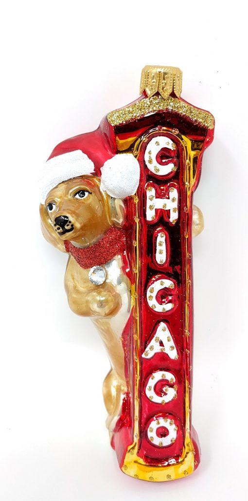 Chicago Dachshund Ornament (Sew001)-0