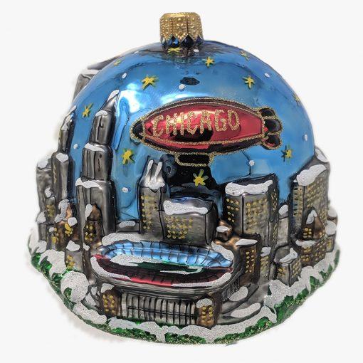 Chicago Stadium at Night Ornament (Sew110)-0