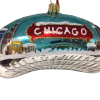 Chicago Bean Ornament - Night - Small (Mys9082)-0