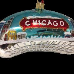 Chicago Bean Ornament - Night - Small (Mys9082)-0
