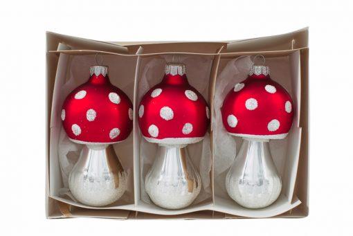 Mushroom Polish Christmas Ornament - Muchomor - Set of 3-0