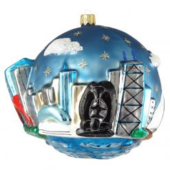 Chicago Skyline with Famous Chicago Landmarks Ornament (Mys919)-0
