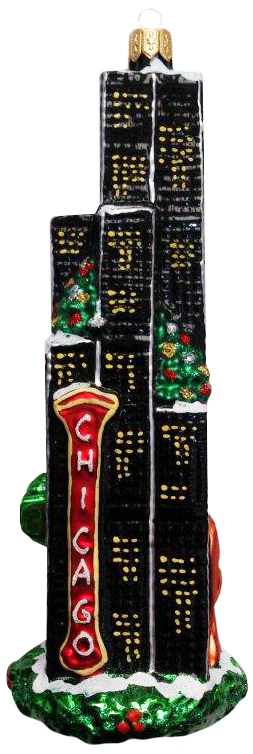 Chicago Tower Ornament (Sew117)-0