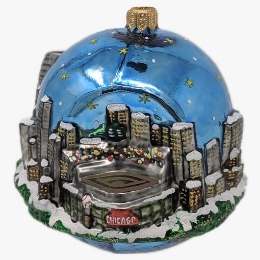 Chicago Baseball Stadium Ornament (Sew116)-0