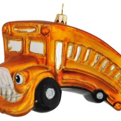 Yellow School Bus Christmas Ornament-0