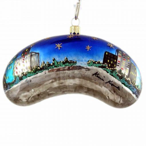 Chicago Bean Christmas Ornament - Night - Medium-0