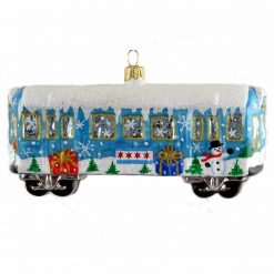 Chicago L Train Wagon Ornament - Blue (Mys950)-0