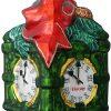 chicago green clock michigan ave christmas ornament