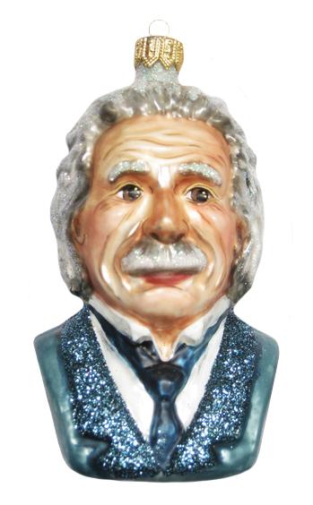 Albert Einstein Christmas Ornament-0