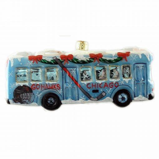 Chicago Bus - Go Hawks - Ornament (Mys943)-0