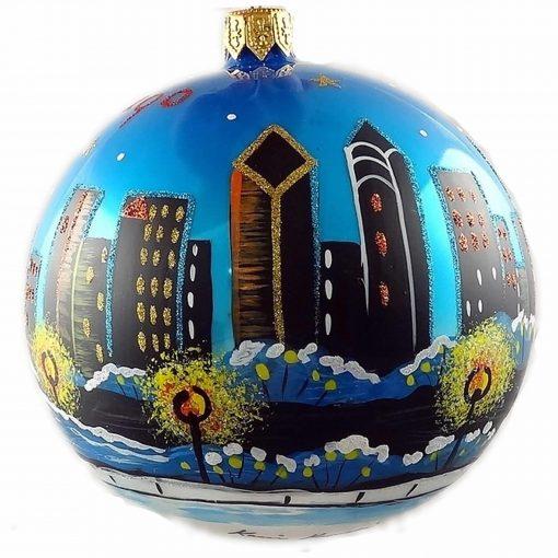 Chicago Lake Michigan Skyline Ornament (Mys945)-0