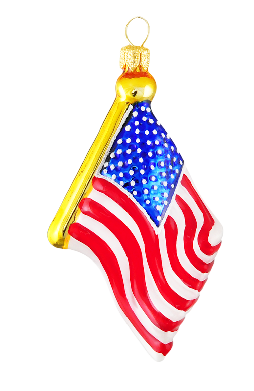 USA Flag Ornament (Max1604)-0