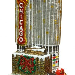 Chicago Corncob Parking Garage Towers Ornament (Sew130)-0