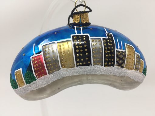 Chicago Bean Christmas Ornament {Sew135}-0