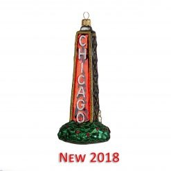 New 2018 Chicago Tower Ornament {mys979}-0